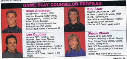 Nintendo Game Play Counselors during their heyday